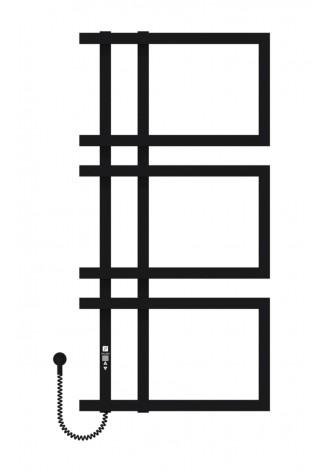 Enza 1000х500х3 чорний (структура,мат)-RAL-9005 L элект..
