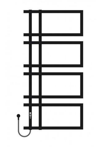 Enza 1200х600х4 черный (структура,мат)-RAL-9005 L элект..