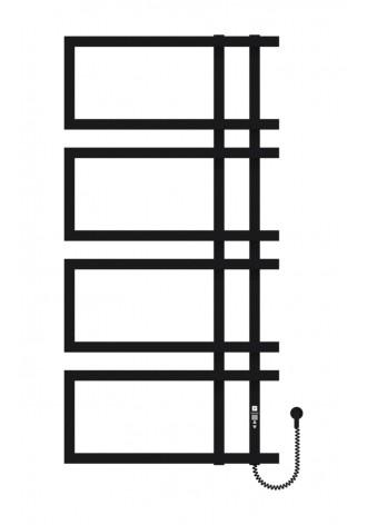 Enza 1200х600х4 черный (структура,мат)-RAL-9005 R элект..