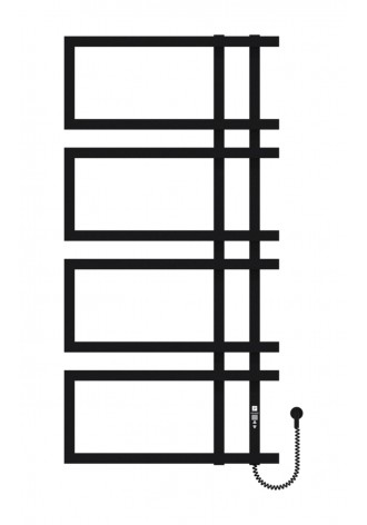 Enza 1200х600х4 чорний (структура,мат)-RAL-9005 програм..