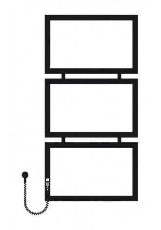 Quattro 1000х500х3 черный (структура,мат)-RAL-9005 L эл..