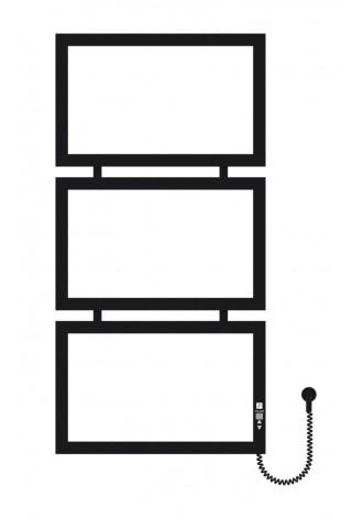 Quattro 1000х500х3 черный (структура,мат)-RAL-9005 R эл..