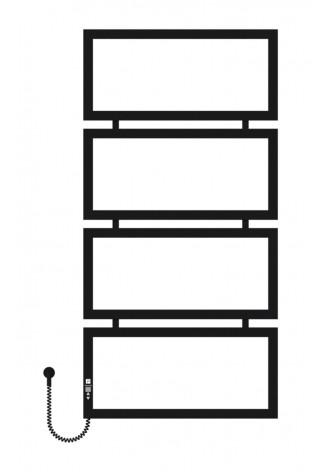 Quattro 1200х600х4 черный (структура,мат)-RAL-9005 L эл..