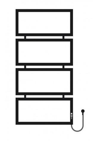 Quattro 1200х600х4 черный (структура,мат)-RAL-9005 R эл..