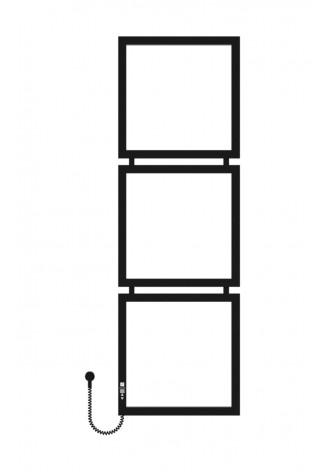 Tricube 1400х450х3 черный (структура,мат)-RAL-9005 L эл..