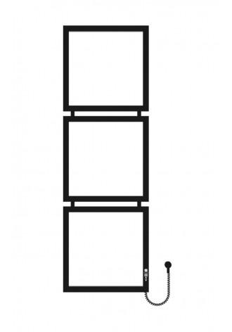 Tricube 1400х450х3 черный (структура,мат)-RAL-9005 R эл..